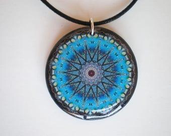 Mandala pendant - Mandala jewelry - Resin pendant - Art pendant - Mandala- Gift for her - Gift idea - Woman gift - Printed artwork