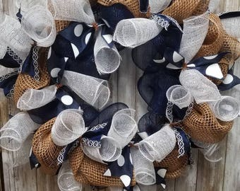 Navy wreath