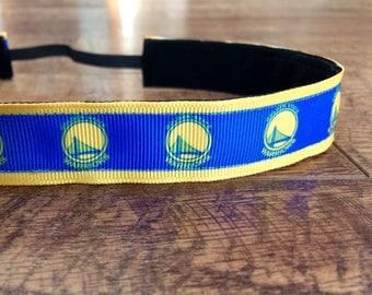 Golden state warriors Headbands - Athletic Headband Adult Basketball Gifts - Girls Basketball Headband -Womens Sport Non Slip Headband