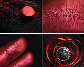 Eyeshadow: Fire Dancer  - Nomad. Hot red metallic eyeshadow by SIGIL inspired.