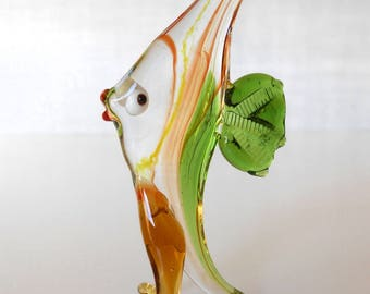 japanese glass vintage blown fish