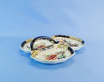 Trefoil Losol Ware Serving Dish Bowl Starters Shanghai Keeling Vintage English 1920s