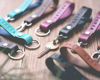 50%OFF Personalized key fob / Leather key fob / Monogram key fob / Key fob monogram / Monogrammed keyfob / Personalized key fob