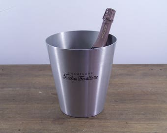 Vintage french Nicolas Feuillatte Champagne ice bucket wine cooler