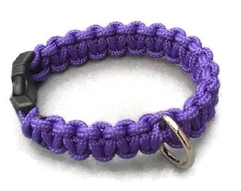 Custom Cobra Non-Adjustable Single Color Paracord Dog Collar, Choose Your Color, Cute Dog Collar, Strong Dog Collar, Sturdy Dog Collar