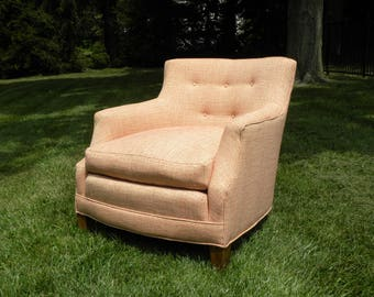 vintage upholstered lounge reading accent chair