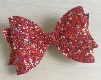 Large Glitter red bow