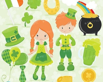 80% OFF SALE St-patrick's day clipart commercial use, vector graphics, digital clip art, digital images - CL639