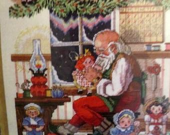 "1999 Janlynn Counted Cross Stitch ""Santa's Workshop"" #15-207 Design Size 10"" x 14"" Advanced Stitcher"