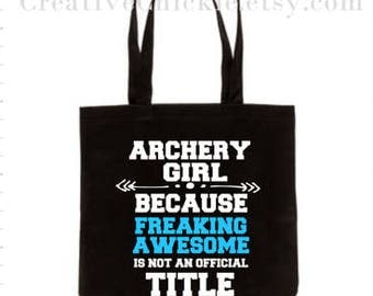 Archery Girl Tote Bag