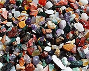 Natural Gemstone Chippings 7-12mm Various Weights Crafts and Mosaic Uses POSTAGE INCLUDED