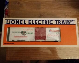 Lionel Trains 1987 Christmas Boxcar