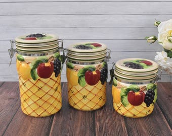 Fruit canisters | Etsy