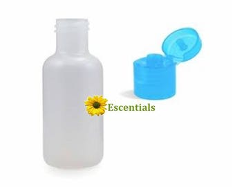 1/2 Ounce Plastic Bottle w Blue Dispensing cap - 10 Pack