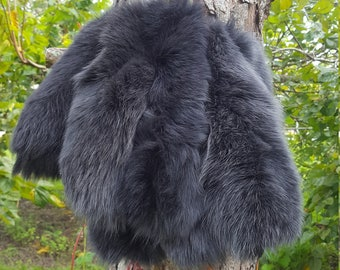 Dyed Charcoal Medium Arctic Fox Tails