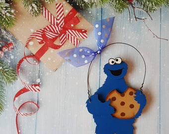 Cookie Monster Christmas Ornament, Elmo Ornament, Sesame Street Ornament, Personalized Christmas Ornament