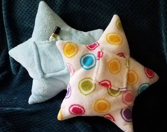 Bedtime Star Pillow with Sleep Oil Pocket or Tooth Fairy Pocket