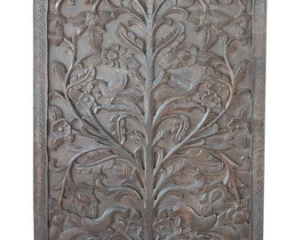 KALPAVRIKSHA- TREE OF Dreams- Wish Fulfilling Tree- Carving Garden Floral Wall Sculpture Decor
