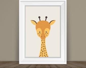 Giraffe Print, Baby Giraffe, Safari Nursery, Safari Theme, Safari Decor, Nursery Safari, Safari Nursery Print