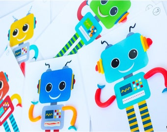 Robot Play Dough Activity Mats