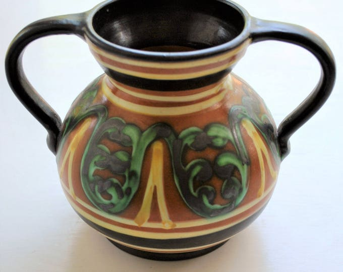 Upsala Ekeby Vase Vintage 1930's Swedish Arts and Crafts Movement
