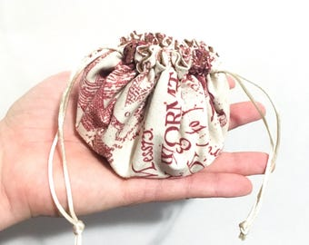 CUSTOM Dice pouch WITH dice - Dungeons and Dragons dice bag - Polyhedral dice bag - Dice bag with dividers