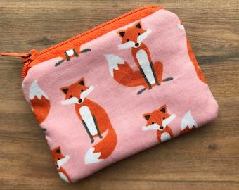 Small Zipped  Pouch - Coin purse - Purse - Coin Wallet