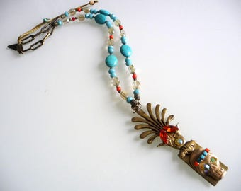 Necklace rock and roll chic Hippie