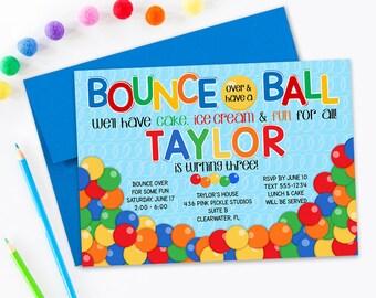 Ball Invitation, Bouncy Ball Party, Bouncy Ball Birthday Invitation, Bouncy Ball Invite,  Bouncy Ball Birthday, Ball Birthday   | 436