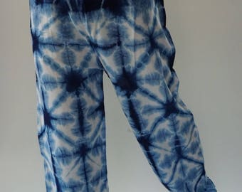 CH0201 Rayon ROPE tie dye pants, Really soft pants with elastic waistband