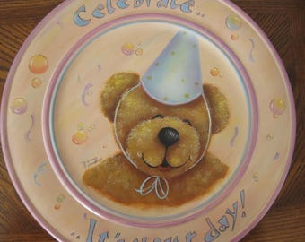 "Decorative ( tole) painting pattern packet "" Celebrate Plate"""