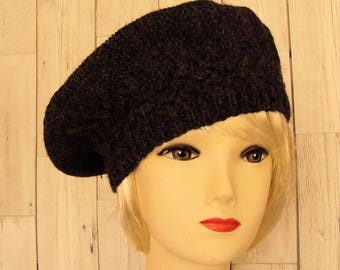 Women's Beret, Grey Beret Hat, Wool Hat, Wool Beret, Grey Hat, Womens Hats, Beret Hats for Women, Gifts for Her, Gifts for Ladies, Sue Maun