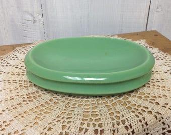 Vintage Green Ceramic Soap Dish