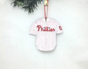 Personalized Philadelphia Phillies Christmas Ornament / Phillies Jersey Ornament / Baseball ornament