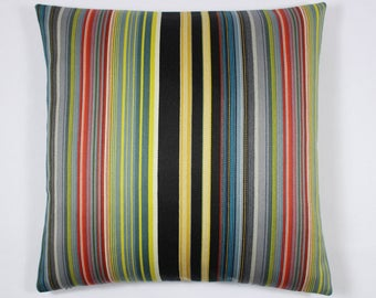 Maharam Paul Smith Stripes Reverberating  pillow, Stripes pillow cover, modern pillow cover, multicolor pillow cover, designer pillow cover