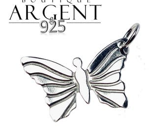 Charm 13mm X 9 mm for jewelry making 925 sterling silver Butterfly
