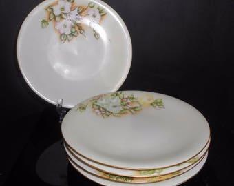"Limoges Dessert Plates Set Of 5 UC Union Ceramique 1908-1938 Artist Signed 7"""