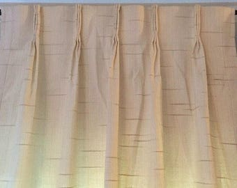 Vintage JC Penney Jewel Tex Pinch Pleat Insulated Drapes Curtains Cream  Colored With A Subtle