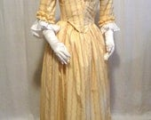 18th Century Lady's One-piece Round Gown  -  Ready to wear