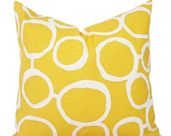 15% OFF SALE Yellow Throw Pillow Covers - Two Yellow Decorative Pillow Covers - Yellow Couch Pillows Cushion Cover - Yellow Freehand