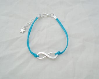 Bracelet infinite blue cord