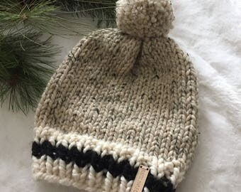 Beanie Toque Winter Hat Slouchy Style in Adult Regular