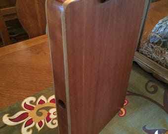 Vintage Wooden Clipboard With Sliding Drawer