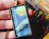 Reserved For JENNI Van Gogh Starry Night Pendant