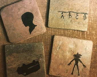 Stranger Things Coasters - Set of 4