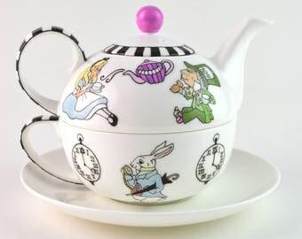 Alice's Tea Party Tea Set For One
