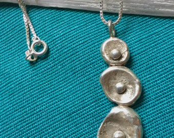 """Sterling Silver Pendant on 30"""" Sterling Silver Box Chain"""