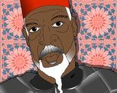 "1001 Black Men--#991: American Sultan, Dr. Bey 8.5"" x 11"" Print"
