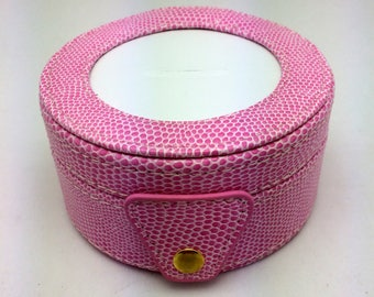 Needlepoint LEE Gift Box LEATHER Pink -Free US Shipping!!!