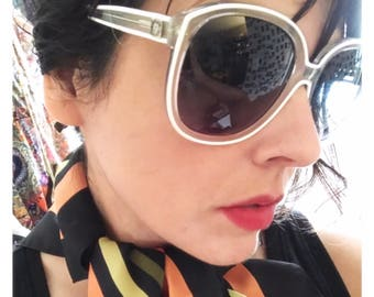 Vintage Anne Klein for Riviera Sunglasses, Italy, Clear, Oversized
